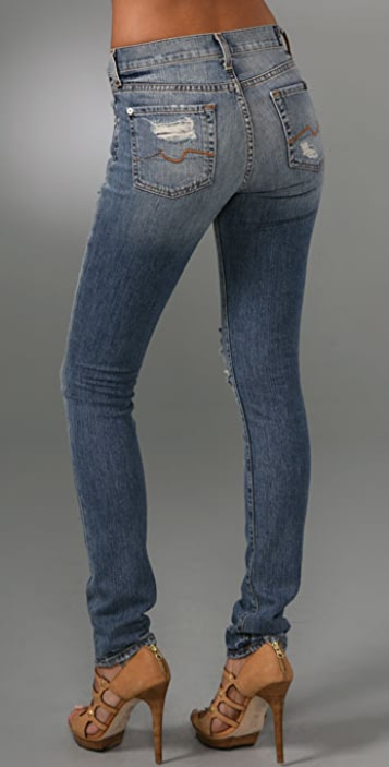 7 For All Mankind High Waist Roxanne Skinny Jeans