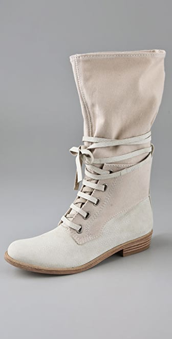 7 For All Mankind Olivia Lace Up Flat Boots