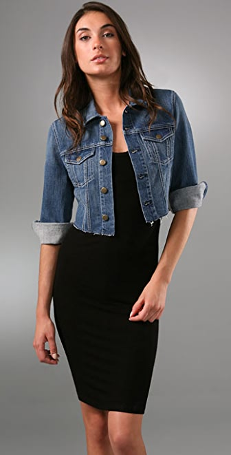 7 For All Mankind Crop Jean Jacket