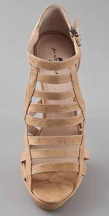 7 For All Mankind Rhett Birdcage Platform Sandals