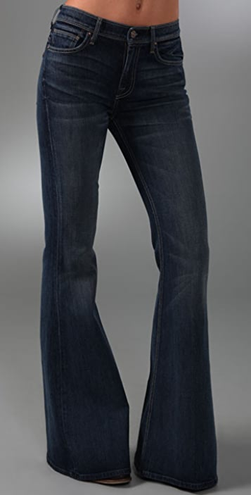 7 For All Mankind High Waist Bell Bottom Jeans