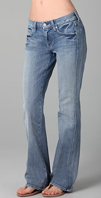 7 For All Mankind A Pocket Boot Cut Jeans with Short Inseam | SHOPBOP