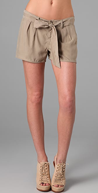7 For All Mankind Pleated Shorts with Tie