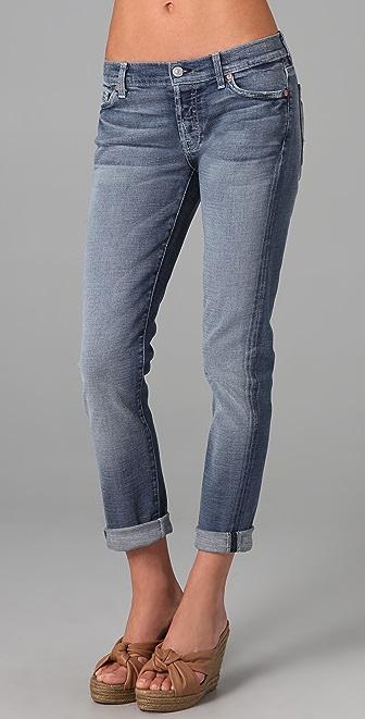 7 For All Mankind Josefina Skinny Boyfriend Jeans   15% off first ...