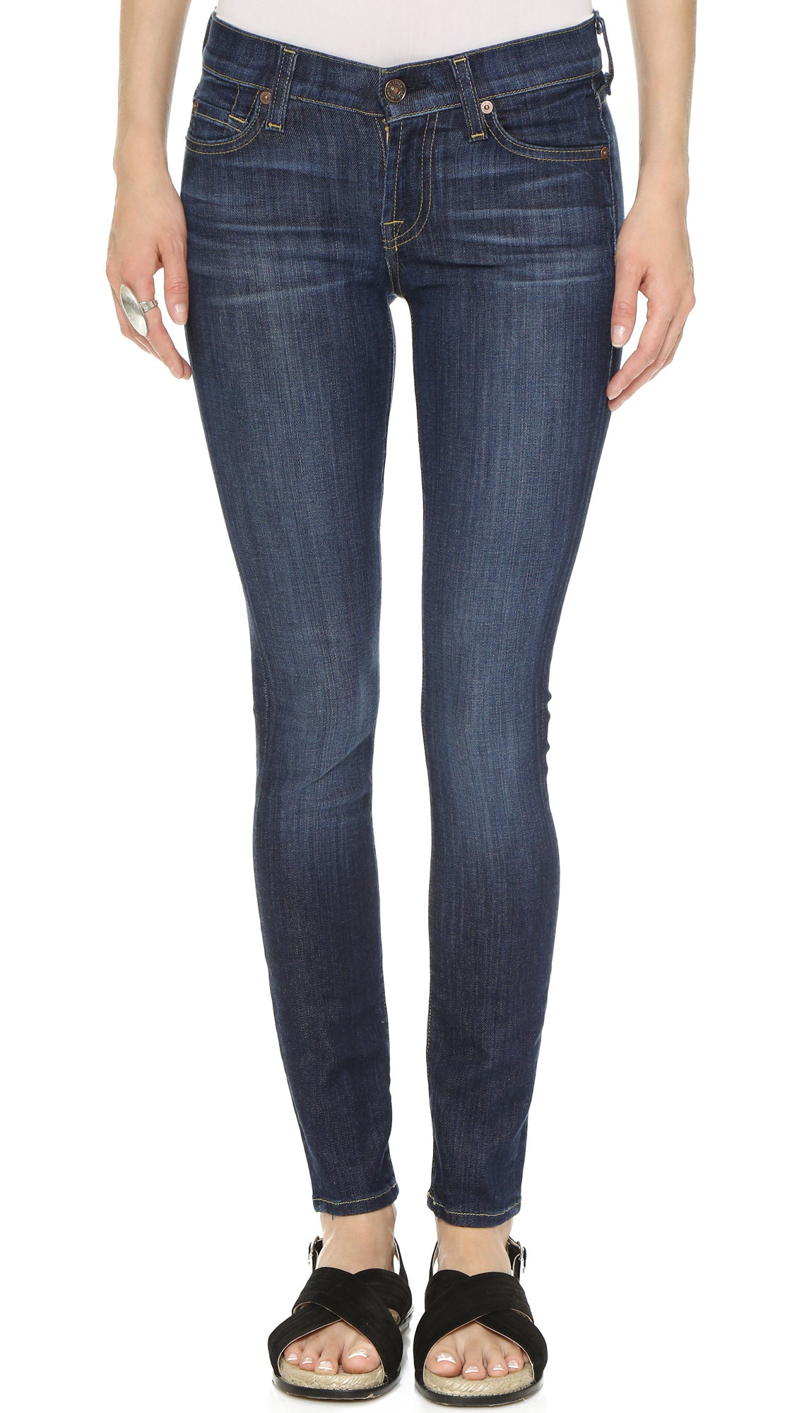 7 For All Mankind The Skinny Jeans - Nouveau New York Dark