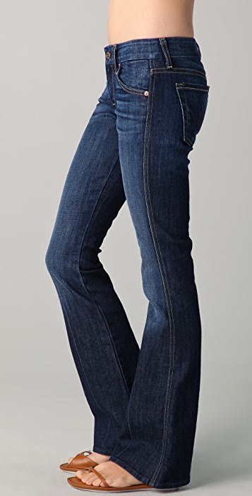 7 For All Mankind Petite 'A' Pocket Flare Jeans