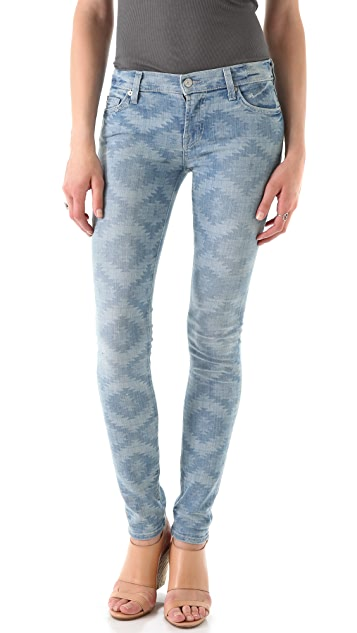 7 For All Mankind Rolled Skinny Jeans