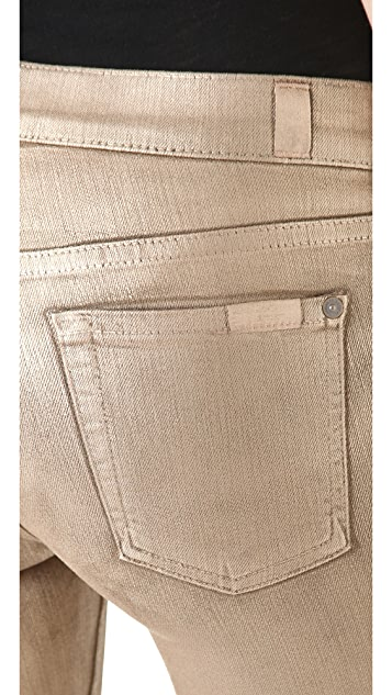 7 For All Mankind The Skinny Jeans in Metallic