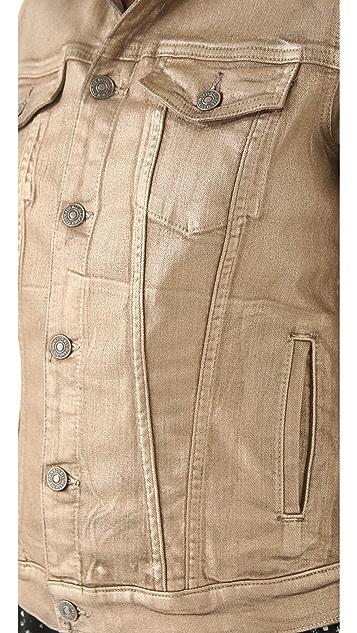 7 For All Mankind Denim Jacket in Metallic Wash