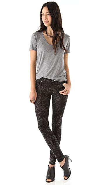 7 For All Mankind Jacquard Skinny Jeans