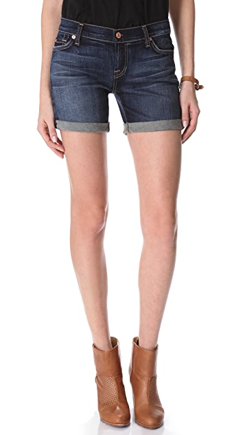 7 For All Mankind Mid Roll-Up Shorts