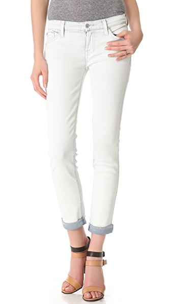 7 For All Mankind Rolled Coated Cigarette Jeans