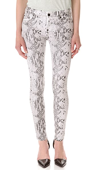 7 For All Mankind The Coated Reptile Skinny Jeans