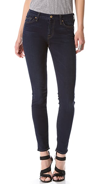 7 For All Mankind Contour Waist Skinny Jeans