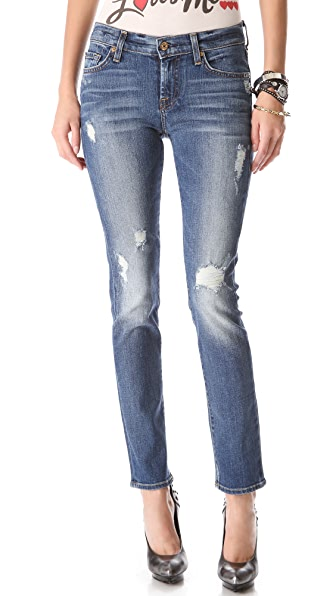 7 For All Mankind The Destroyed Slim Cigarette Jeans