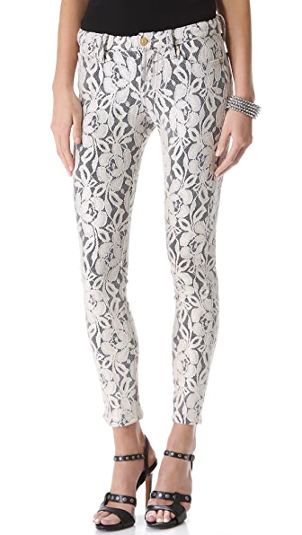 7 For All Mankind Lace Skinny Pants
