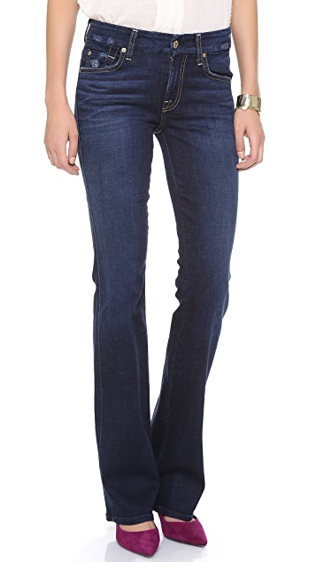 7 For All Mankind Kimmie Distressed Boot Cut Jeans