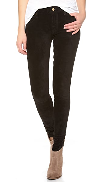 7 For All Mankind The Sueded Skinny Jeans