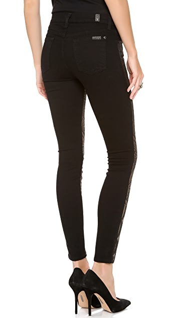 7 For All Mankind The Art Nouveau Jacquard Skinny Jeans