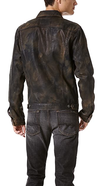 7 For All Mankind Dyed Camo Jean Jacket