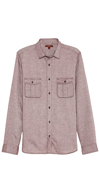 7 For All Mankind Herringbone Sport Shirt