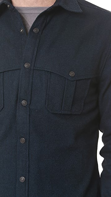 7 For All Mankind Brushed Cotton Shirt Jacket with Thermal Lining