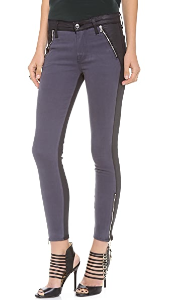 7 For All Mankind Fashion Zipped Skinny Jeans