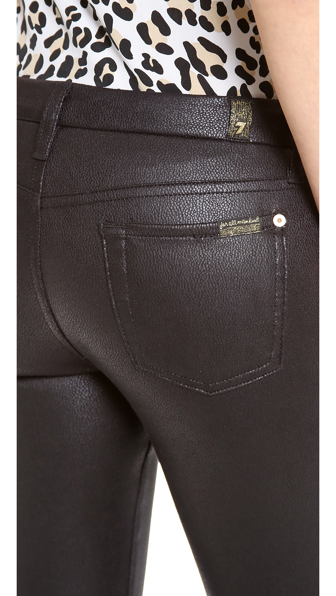7 For All Mankind Faux Crackle Leather Skinny Pants | 15% off ...