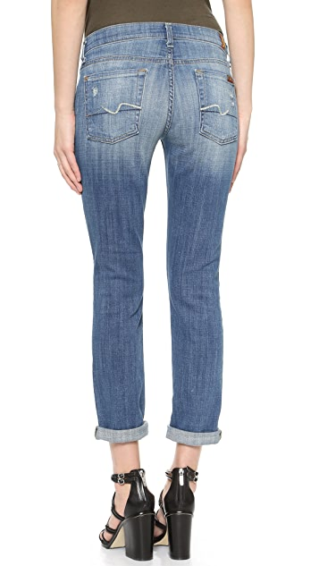 7 For All Mankind Josefina Rolled Hem Jeans