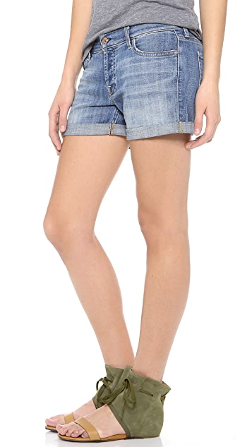 7 For All Mankind Slouchy Distressed Shorts