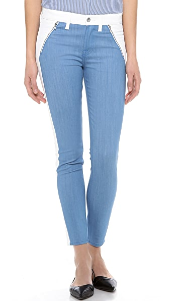 7 For All Mankind Fashioned Pieced Skinny Jeans