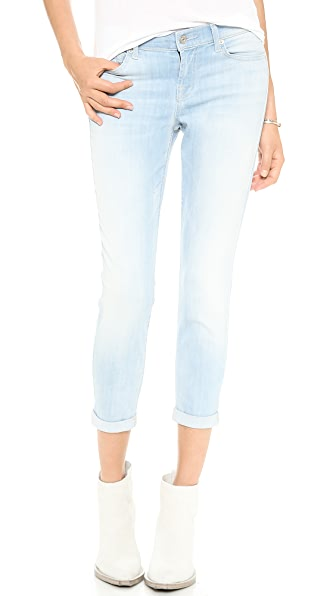 7 For All Mankind The Skinny Crop & Roll Jeans