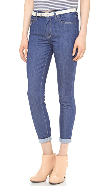 7 For All Mankind The High Waist Ankle Skinny Jeans