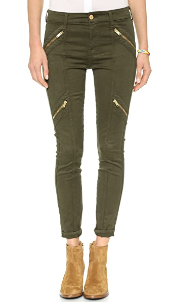 7 For All Mankind Panel Zip Moto Pants