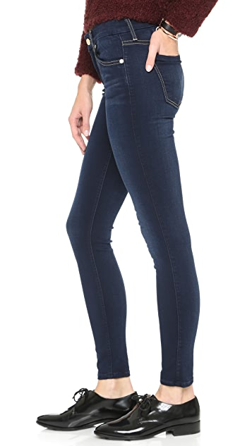 7 For All Mankind Slim Illusion Luxe Mid Rise Skinny Jeans
