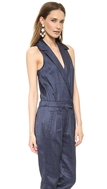 7 For All Mankind Chambray Jumpsuit