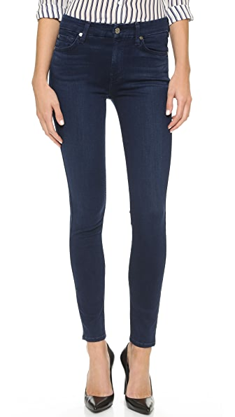 7 For All Mankind The Mid Rise Slim Illusion Luxe Skinny Jeans - Slim Illusion Luxe Rich Blue