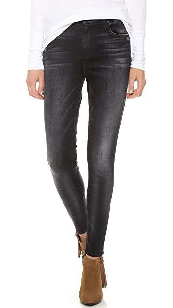 7 For All Mankind High Waist Slim Illusion Skinny Jeans