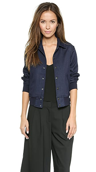 7 For All Mankind Indigo Bomber Jacket