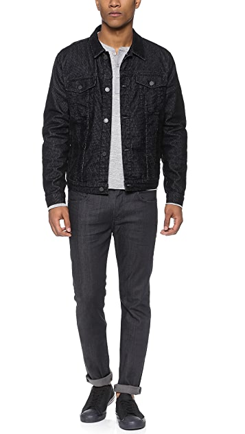 7 For All Mankind Flocked Jean Jacket