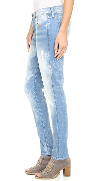 7 For All Mankind Josephina Destroyed Bleached Jeans