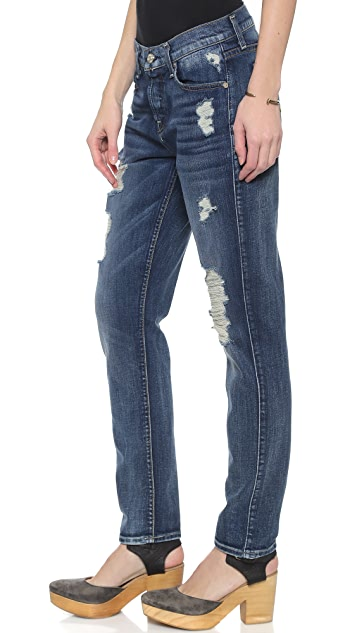 7 For All Mankind Josefina Destroyed Jeans