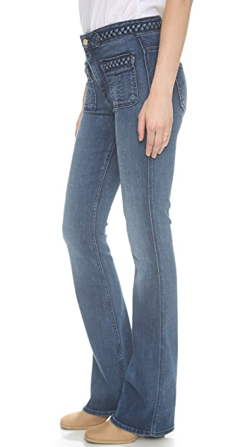 7 For All Mankind Braided Fashion Flare Jeans