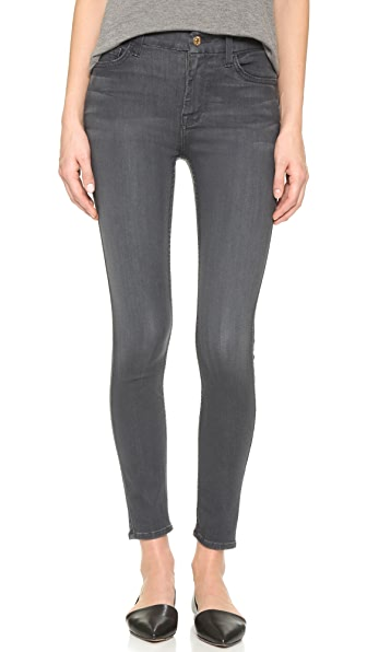 7 For All Mankind The High Rise Skinny Jeans - Bastille Grey