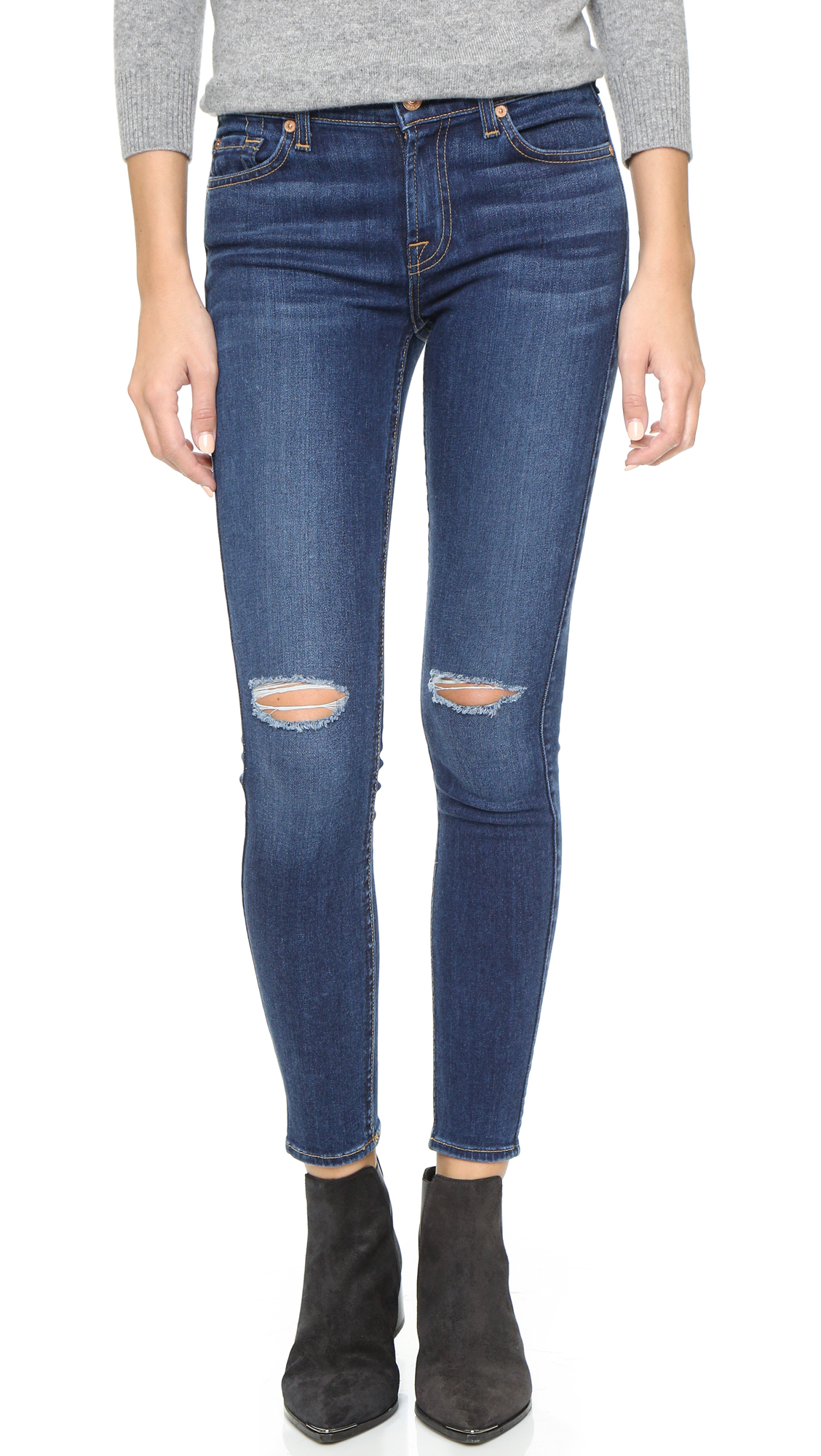 7 For All Mankind The Ankle Skinny Jeans | 15% off first app ...