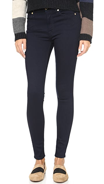 7 For All Mankind Mid Rise Ankle Skinny Jeans