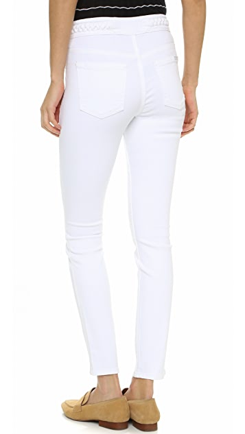 7 For All Mankind Braided Skinny Jeans