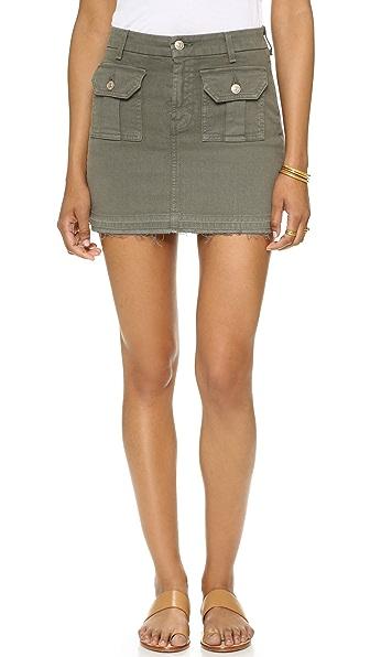 7 For All Mankind Utility Pocket Miniskirt