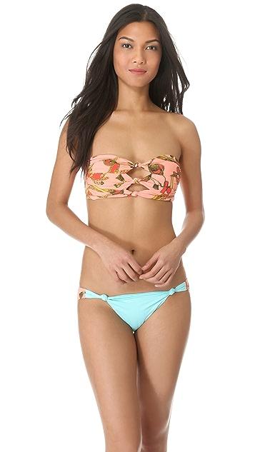Seventh Wonderland Serenade Knot Bandeau Bikini