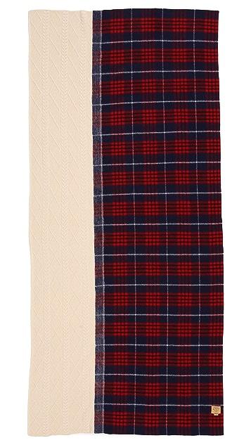 Standard Form Grunge Plaid Knit Scarf